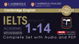 TÀI LIỆU IELTS CAMBRIDGE 1- 14 + AUDIO (2019)